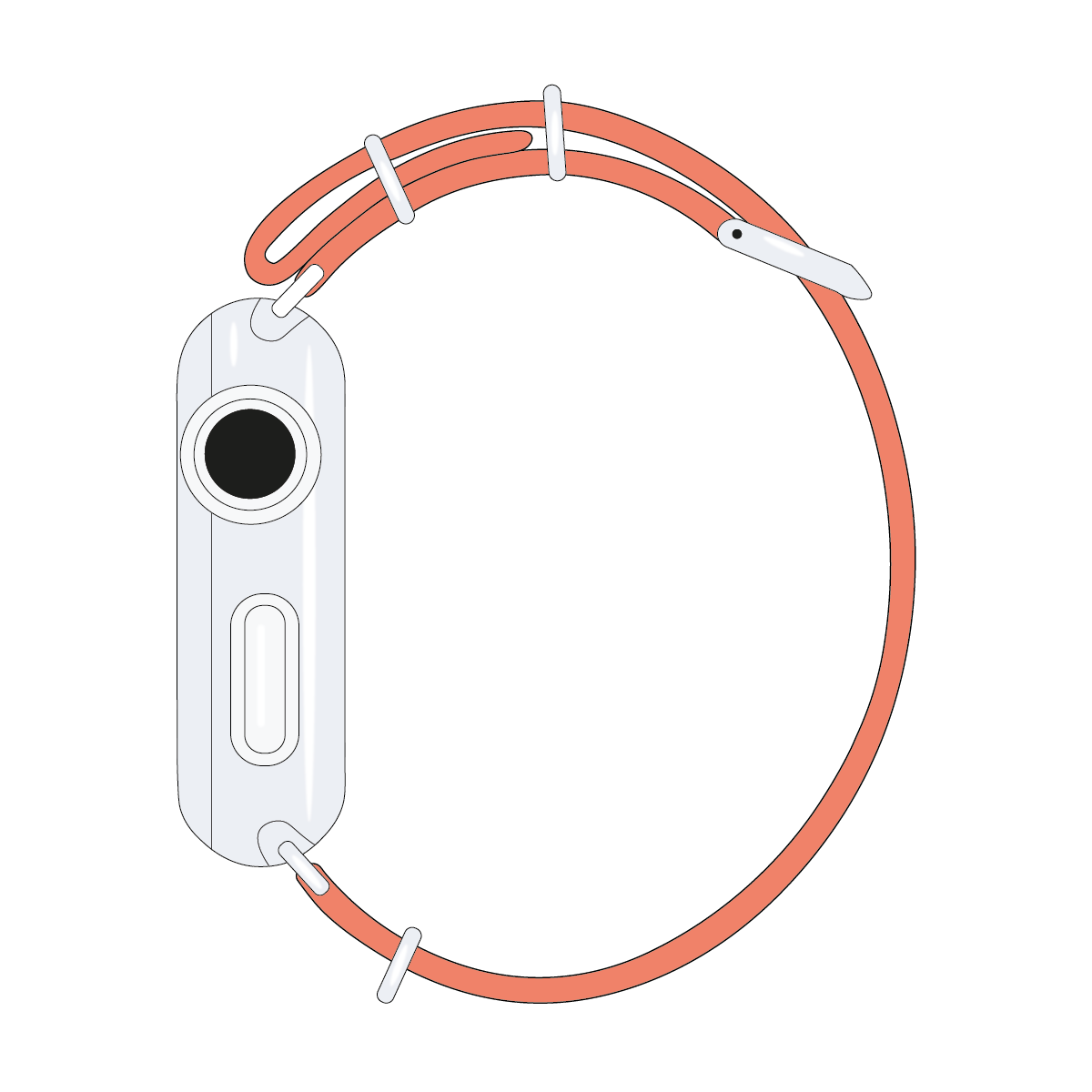 Correa para Apple Watch de nailon NATO en albaricoque | Roobaya – Bild 4