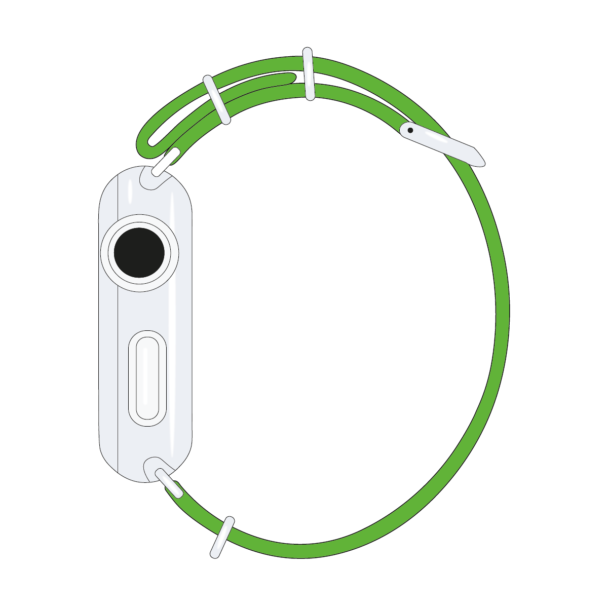 Bracelet Apple Watch nylon Nato vert clair | Roobaya – Bild 4
