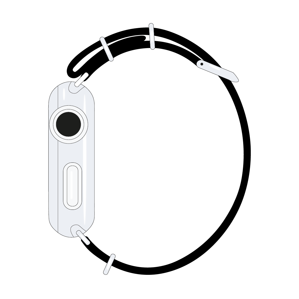 Cinturino Nato Apple Watch in nylon nero | Roobaya – Bild 4