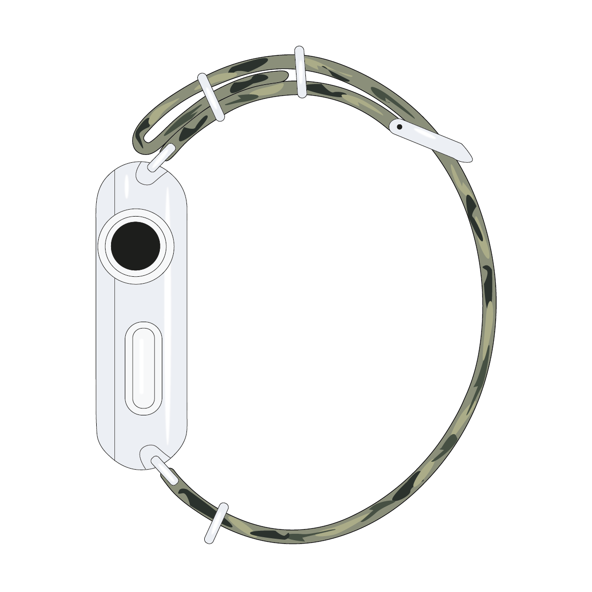 Apple Watch Armband Nato Nylon Camouflage | Roobaya – Bild 4